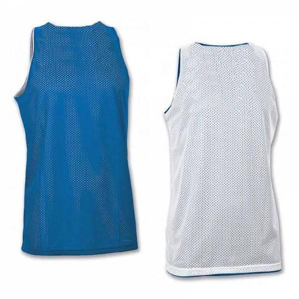 Camisetas Baloncesto reversibles Joma Aro Basket unisex azul blanco trasera