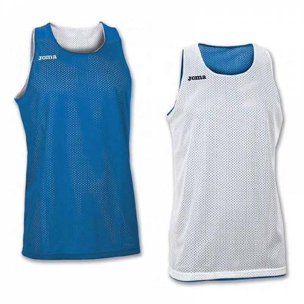 Camisetas Baloncesto reversibles Joma Aro Basket unisex azul blanco