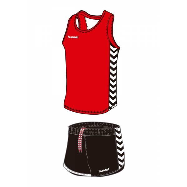 Equipaciones running Essential Hummel atletismo roja