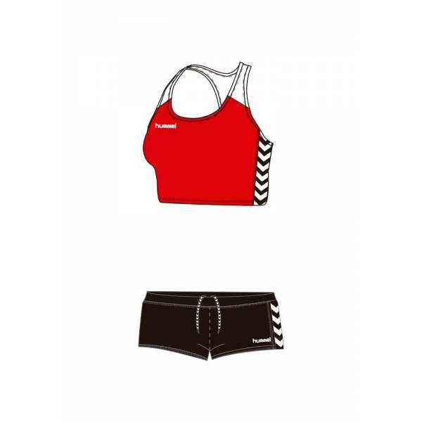 Equipaciones running mujer Essential Hummel atletismo rojo