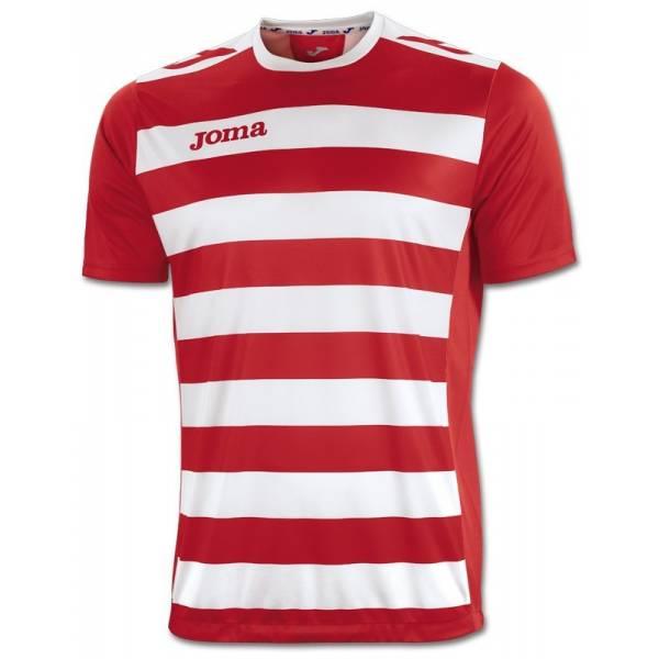 Camisetas Europa II de Joma roja blanca