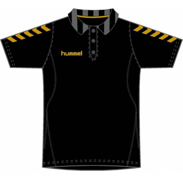 Polo paseo Essential Black&Gold de Hummel