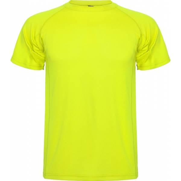 Camiseta Técnicas Roly Montecarlo Hombre amarilla
