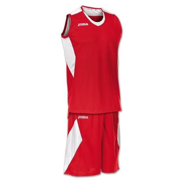 Equipación baloncesto Space Joma roja blanca