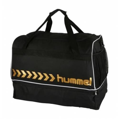 Bolsa con zapatillero essential Black & Gold de Hummel