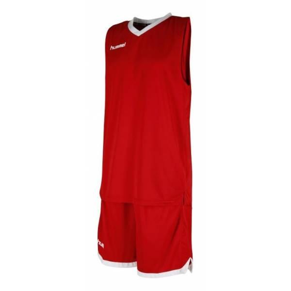 Equipación baloncesto essential set Hummel rojo