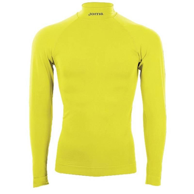 Camiseta térmica Brama Joma Manga larga amarillo fluor 10f6d057d6971