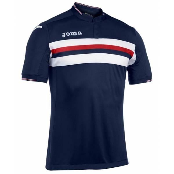 Camiseta Liga manga corta azul marino