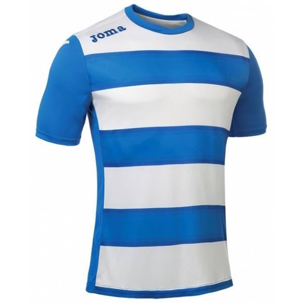 Camiseta rayada Europa III Joma azul blanca