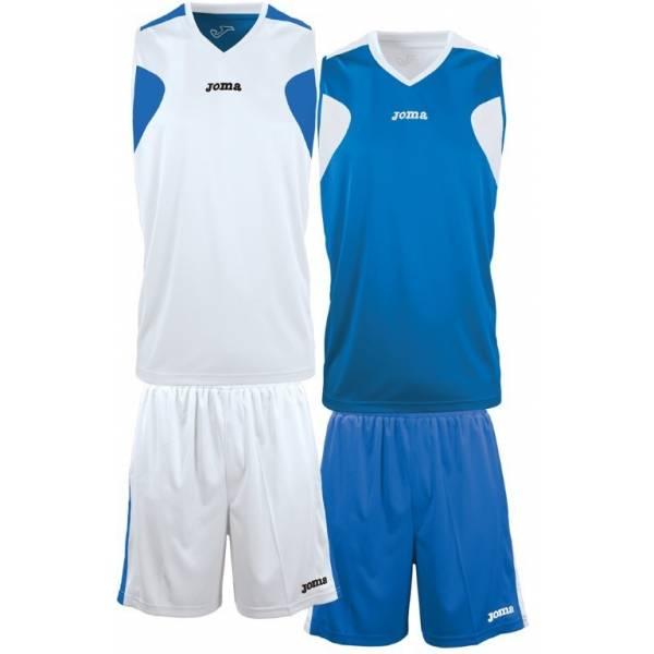 Set Baloncesto reversible Jersey Joma azul blanco