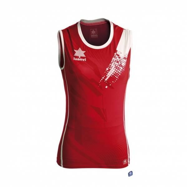 Camiseta voleibol play mujer LUANVI roja