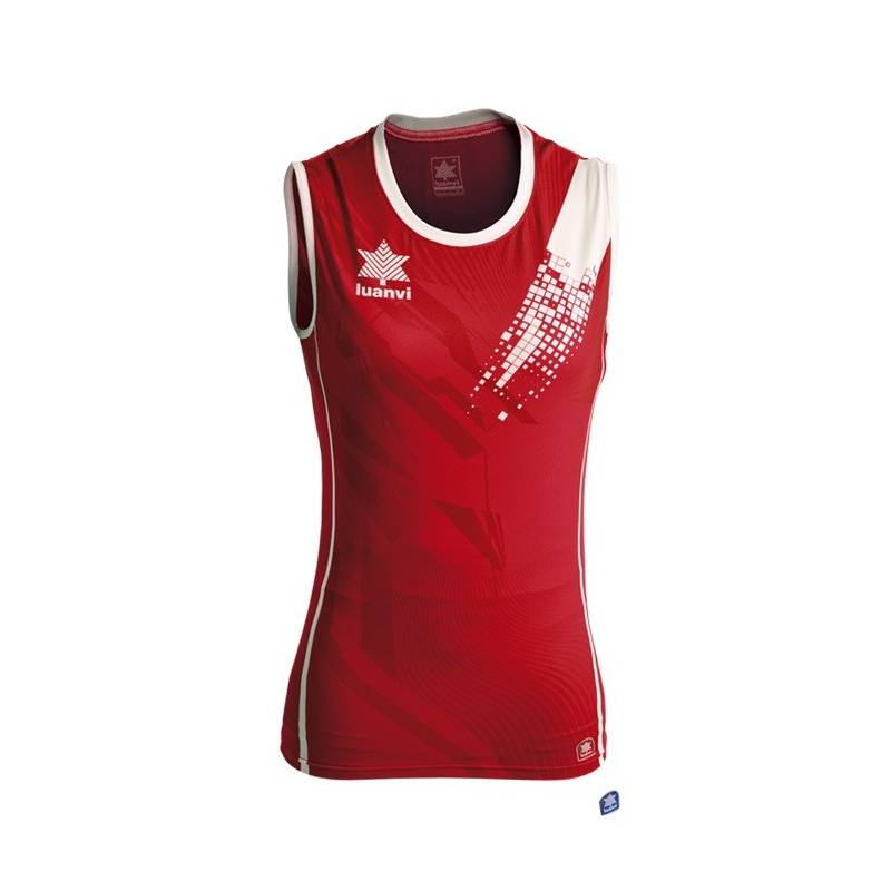 Camiseta voleibol play mujer LUANVI roja d05664be80192