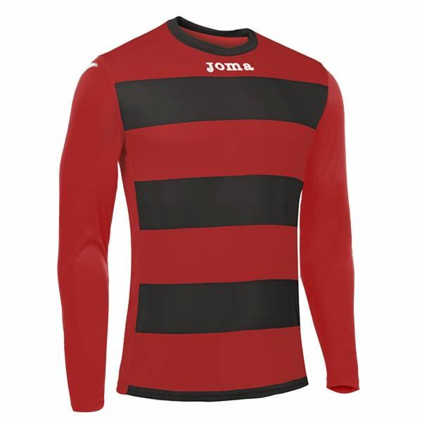 Camiseta Europa 3 Manga Larga JOMA 2017 roja negra