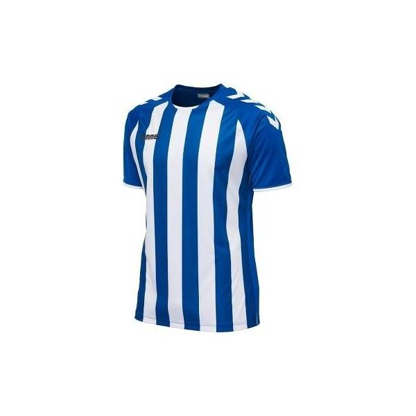 Camiseta rayada Core Hummel striped azul blanca