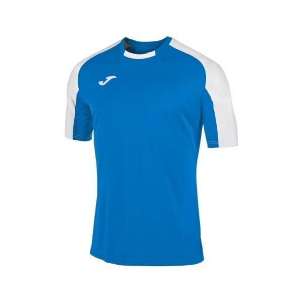Camiseta manga corta Joma Essential azul blanco