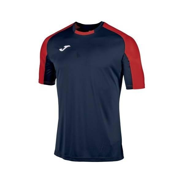 Camiseta manga corta Joma Essential azul marino rojo