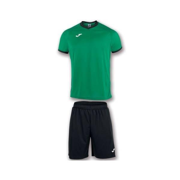 Set Camiseta manga corta y short Academy Joma verde negro