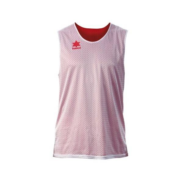 Camiseta Reversible Triple LUANVI blanco rojo