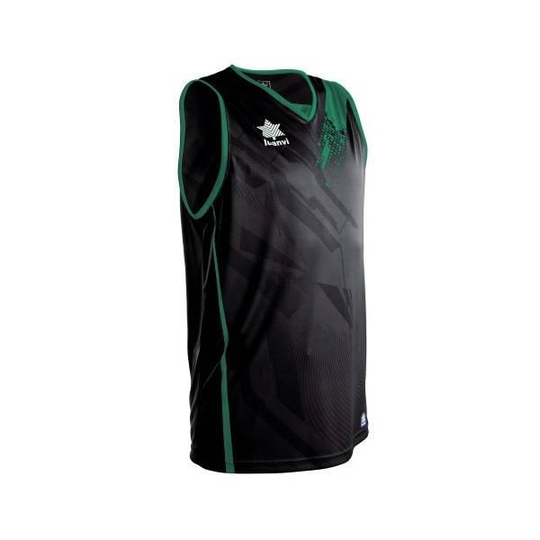 Camiseta sin mangas Play LUANVI negro verde