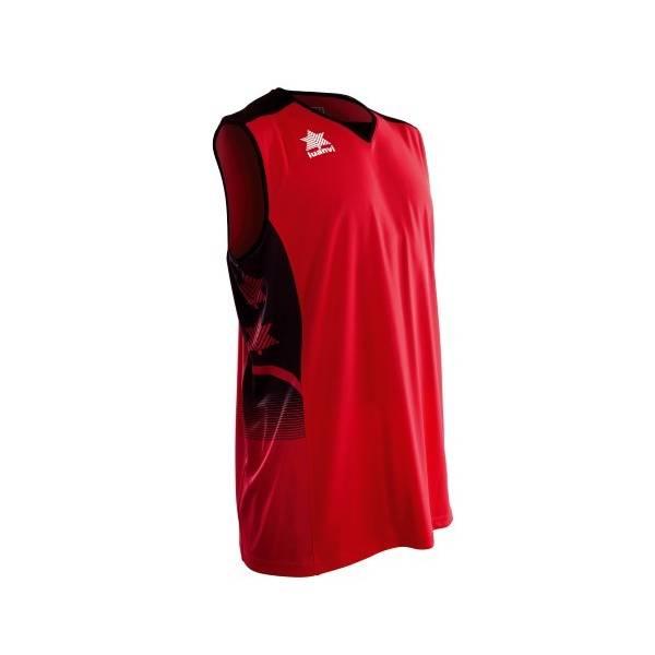 Camiseta sin mangas Atlas LUANVI rojo negro