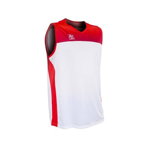 Camiseta sin mangas Portland LUANVI blanco rojo