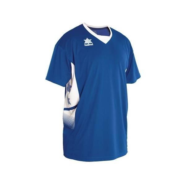 Camiseta Cancha Atlas LUANVI azul blanco