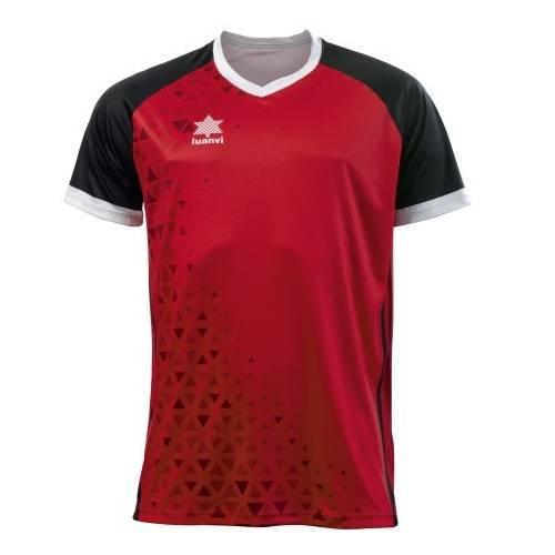 Camiseta Cardiff Luanvi ROJO NEGRO