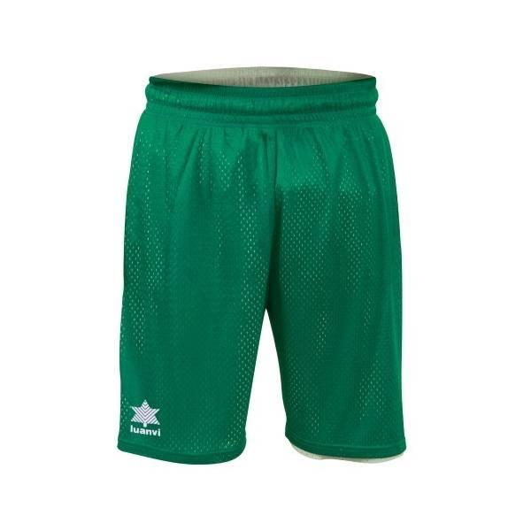 Pantalón Bermuda Reversible Triple LUANVI verde blanco
