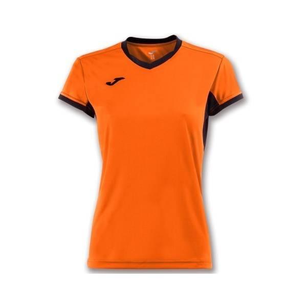 Camiseta mujer m/c Champion IV naranja negro
