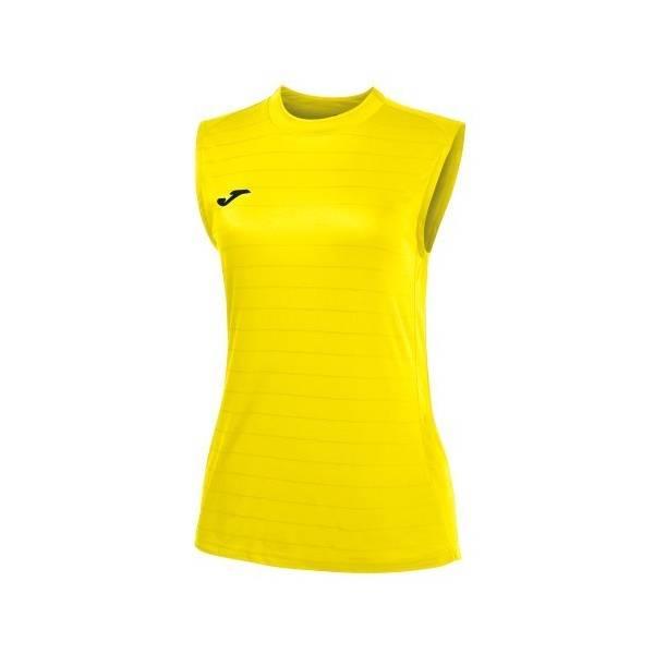 Camiseta de mujer sin mangas Campus II amarillo