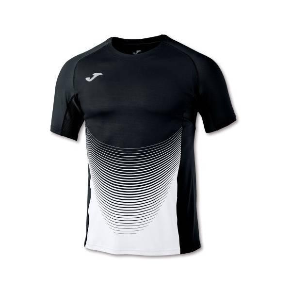 Camiseta running Elite VI negro blanco