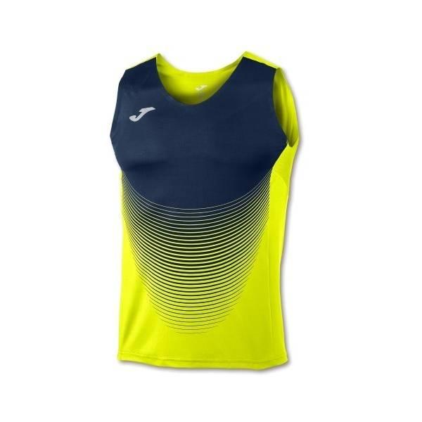 Camiseta running Elite VI amarilla azul