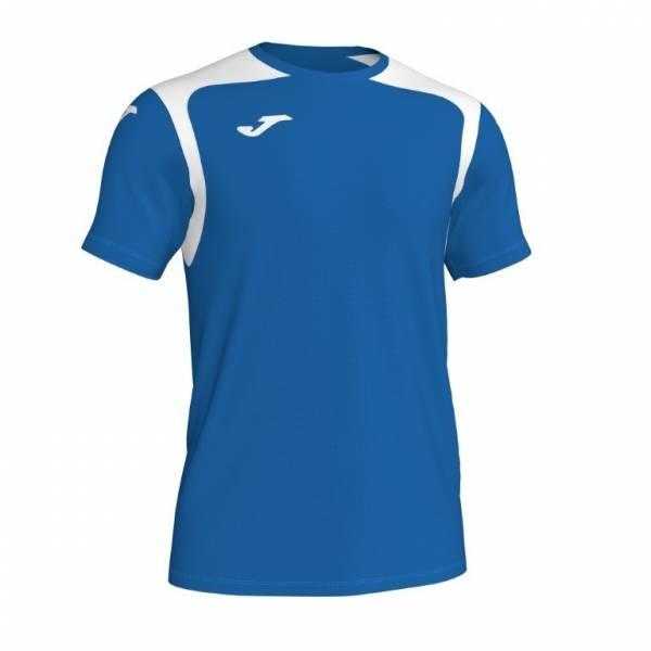 Camiseta manga corta Joma Champion V azul blanco