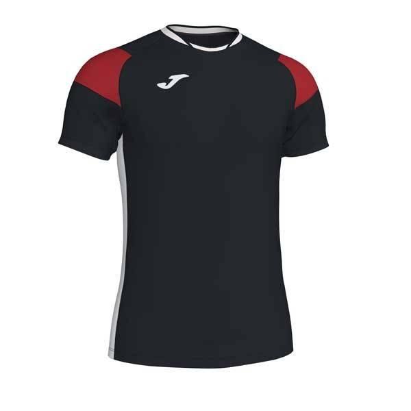 Camiseta manga corta Joma Crew III negro rojo