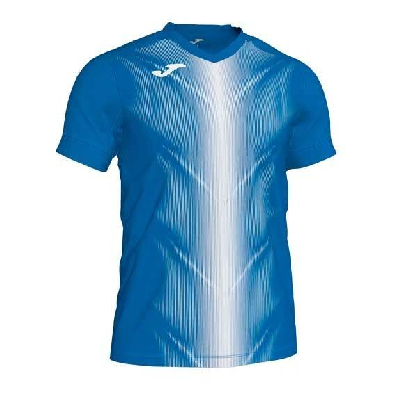 Camiseta manga corta Joma Olimpia II azul blanco