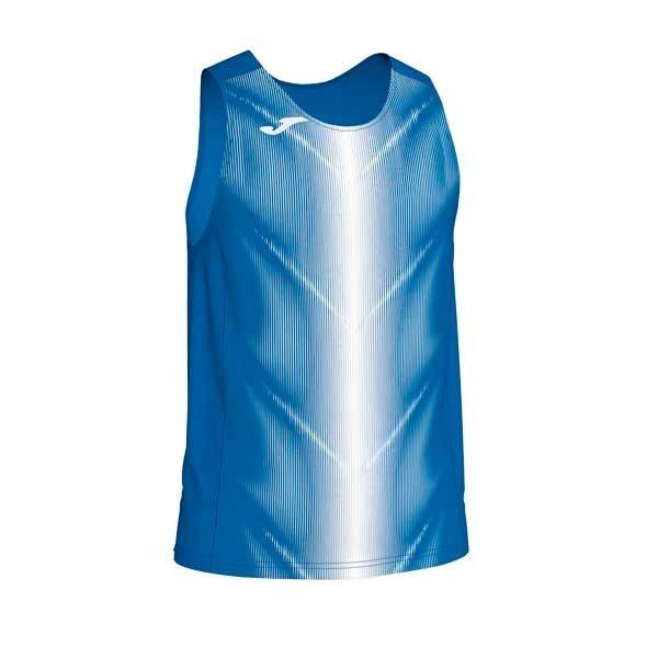 Camiseta manga corta de tirantes Joma Olimpia II azul blanco