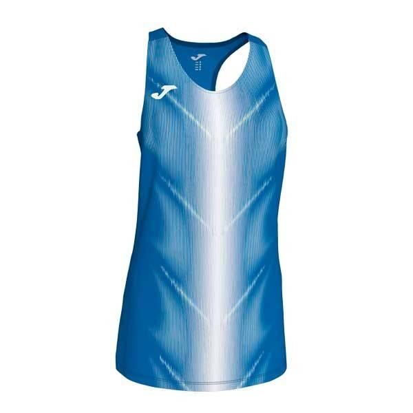 Camiseta de tirantes mujer Joma Olimpia II azul blanco