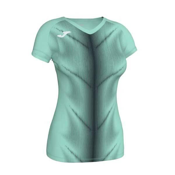 Camiseta manga corta mujer Joma Olimpia II verde claro negro