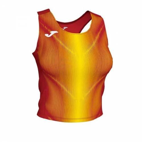Top mujer Joma Olimpia II rojo amarillo