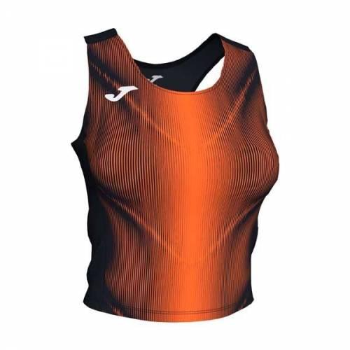 Top mujer Joma Olimpia II negro naranja