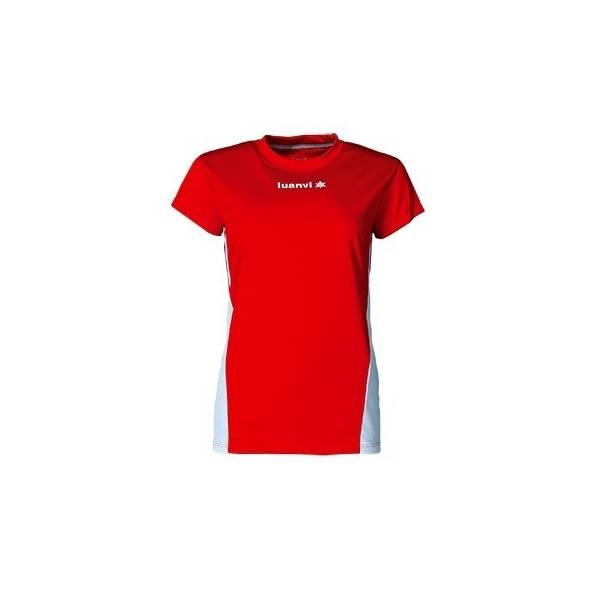 Camiseta manga corta mujer Luanvi Race rojo