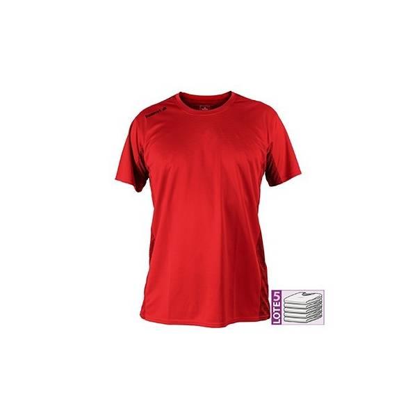 Camiseta manga corta LUANVI Nocaut Plus rojo