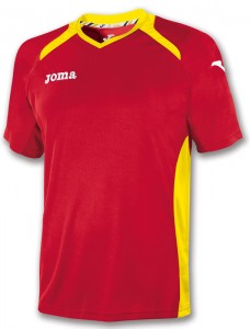 camiseta championII joma roja amarillo