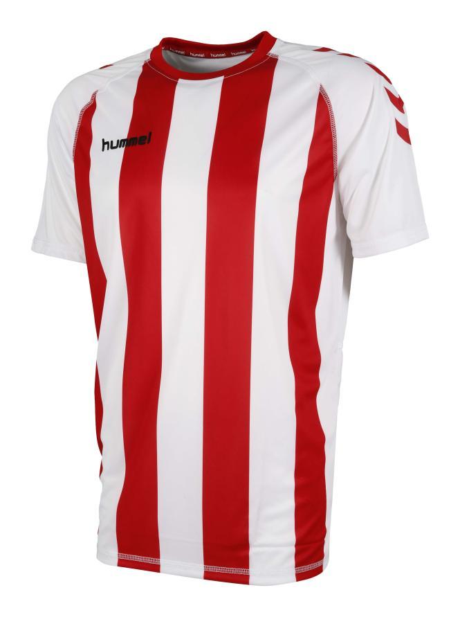 camiseta-essential-rayada-hummel-blancorojo