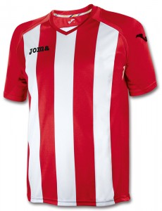 camiseta pisa12 joma blanco rojo
